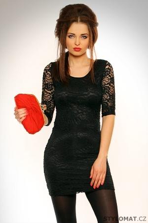 Dámské trendy černé krajkové šaty